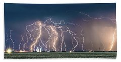 Bolts Over Bushland Hand Towel