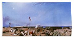 Bombardment Of Fort Moultrie. Charleston Harbor. South Carolina Hand Towel