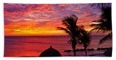 Bonaire Sunset 1 Hand Towel