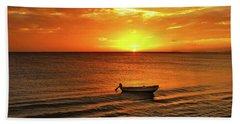 Bonaire Sunset 4 Hand Towel