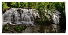 Bath Towel featuring the photograph Bond Falls - Haight - Michigan 003 by George Bostian