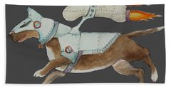 Bone Commander - Apparel  Hand Towel by Jindra Noewi