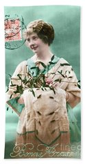 Bonne Annee Vintage Woman Hand Towel