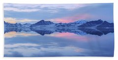 Hand Towel featuring the photograph Bonneville Lake by Chad Dutson