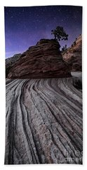 Bonzai In The Night Utah Adventure Landscape Photography By Kaylyn Franks Bath Towel