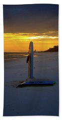 Boogie Boards At Sunset Hand Towel