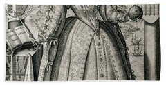 Book Frontispiece Celebrating Queen Elizabeth I's Happy And Prosperous Reign Hand Towel