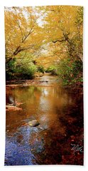 Hand Towel featuring the photograph Boone Fork Stream by Meta Gatschenberger
