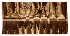 Boot Rack Hand Towel by American West Legend By Olivier Le Queinec