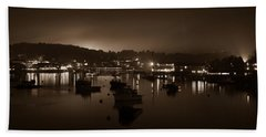 Boothbay Harbor At Night Hand Towel
