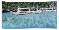Boracay, Philippines Hand Towel by Timothy Lowry