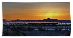 Hand Towel featuring the photograph Borax Lake At Sunrise by Cat Connor