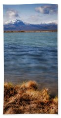 Bath Towel featuring the photograph Borax Lake by Cat Connor