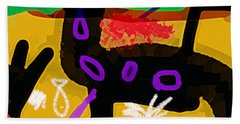 Borges Seven Nights Poster  Hand Towel