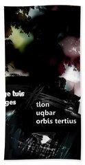 Borges Tlon Poster  Bath Towel