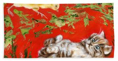 Hand Towel featuring the painting Born To Be Wild by Hiroko Sakai