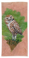 Borrowing Owl Hand Towel by Ralph Root