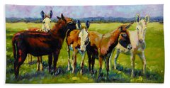 Hand Towel featuring the painting Bosom Buddies by Chris Brandley