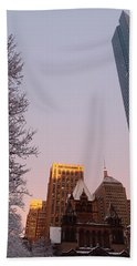 Boston 02/05/16 Bath Towel by Robert Nickologianis