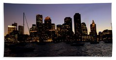 Boston At Night Hand Towel