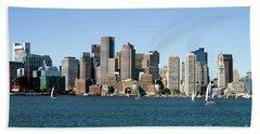 Boston City Skyline Bath Towel