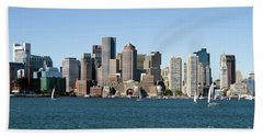 Boston City Skyline Bath Towel