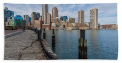 Boston Cityscape From The Seaport District 3 Bath Towel