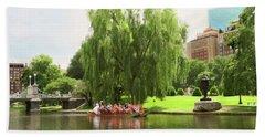 Boston Garden Swan Boat Bath Towel