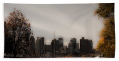 Boston In A Soft Light Hand Towel by Lisa Brandel