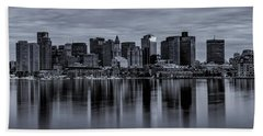 Boston In Monochrome Hand Towel