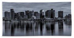 Boston In Monochrome Bath Towel
