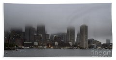 Boston In The Fog Hand Towel