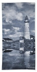 Bath Towel featuring the photograph Boston Light  by Ian Mitchell
