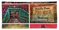 Boston Red Sox Collage - Fenway Park Bath Towel by Joann Vitali