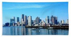 Boston Skyline A Hand Towel