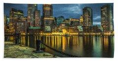 Boston Skyline At Night - Cty828916 Bath Towel