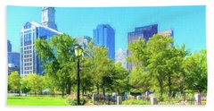 Boston Skyline From Columbus Park Bath Towel