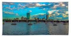 Boston Skyline Painting Effect Bath Towel