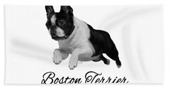 Boston Terrier Bath Towel