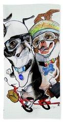 Boston Terriers - Dumb And Dumber Bath Towel