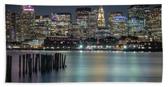 Boston's Skyline From Lopresti Park Hand Towel