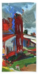 Bostwick Cotton Gin Clouds Hand Towel