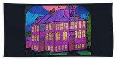 Hand Towel featuring the painting Boswell School. by Jonathon Hansen