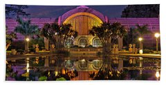 Botanical Building At Night In Balboa Park Hand Towel by Sam Antonio Photography