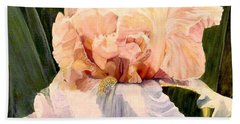 Botanical Peach Iris Bath Towel