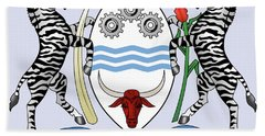 Hand Towel featuring the drawing Botswana Coat Of Arms by Movie Poster Prints