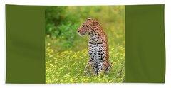 Botswana Leopard  Hand Towel by Happy Home Artistry