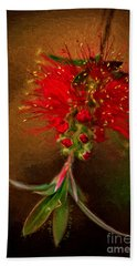 Bottle Brush Flower Hand Towel