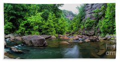 Hand Towel featuring the photograph Bottom Of Tallulah Gorge by Barbara Bowen