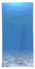 Hand Towel featuring the digital art Bottom Of The Sea by Phil Perkins